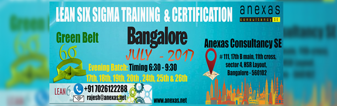 Book Online Tickets for Lean Six Sigma Green Belt Training and C, Bengaluru. No need of Compromising your weekend plans to get certified in Green Belt !!!  Join our Evening Batch and get certified with Green belt  Possible Candidates for a Green Belt  Lean Six Sigma Green Belt is most beneficial for or