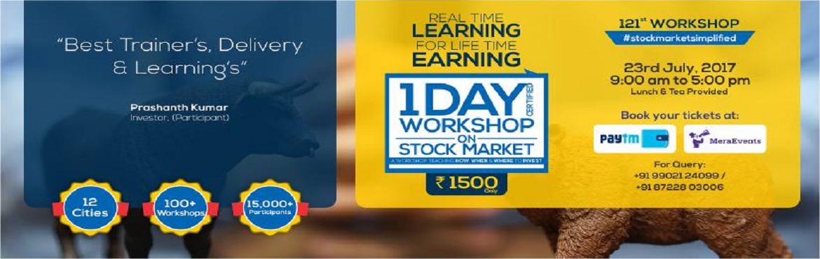 Book Online Tickets for One Day Workshop on Stock Market, Bengaluru. \