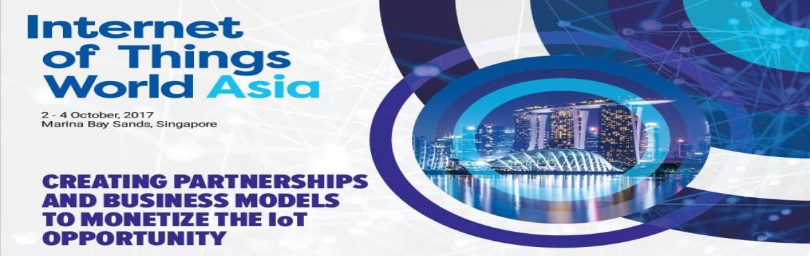 Book Online Tickets for INTERNET OF THINGS WORLD ASIA 2017, Singapore. CREATE PARTNERSHIPS & DEVELOP BUSINESS MODELS THAT WILL MAKE IOT A REALITY   Make connections with partners to develop end-end solutions, access enterprises ready to adopt them as they seek process efficiency, new business models and servic