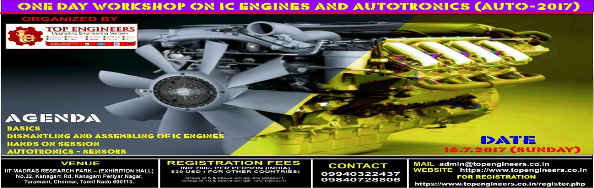 ONE DAY WORKSHOP ON IC ENGINES AND AUTOTRONICS(AUTO-2017)