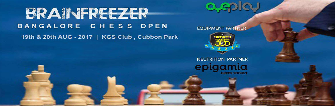 Book Online Tickets for Brainfreezer Open Chess Tournament, Bengaluru.     Details OyePlay is pleased to invite Chess players to participate in Brainfreezer Open Chess Tournament.Event will be held inKGS Club, Cubbon Park, Bangalore.Check out some of the sports events organized by OyePlay herehtt