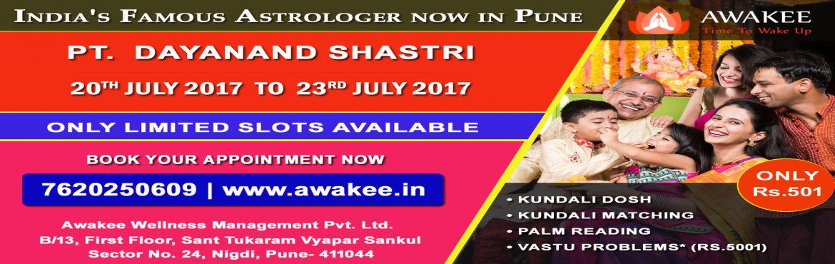 Consult with Celebrity Astrologer Pt. Vishal Dayanand Shastri in Pune