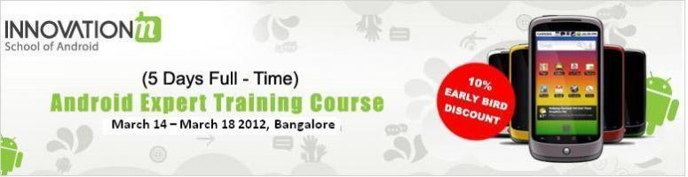 "Book Online Tickets for Android Expert Training Course from Inno, Bengaluru. \\'Android Expert Training\\' from InnovationM School of Android is a 5-day, full-time Android training course for individuals. This instructor-guided classroom plus practice oriented Android training course has been designed with the ""IM Rea"