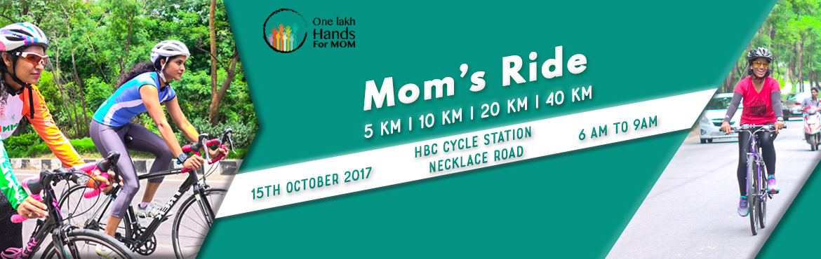 Book Online Tickets for MOMS CYCLING CARNIVAL , Hyderabad. ABOUT THE CYCLING CARNIVAL MOM\'s cycling carnival is a first of it\'s kind event as part of the exclsuive mom\'s sports series. The sports series is to support the One Lakh Hands for MOM campaign to create awareness among health and wellness o