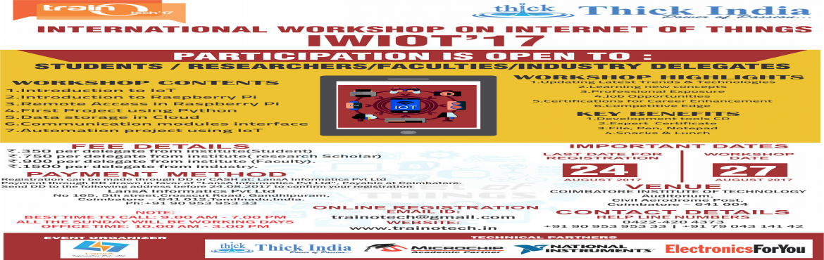 One Day International Workshop On Internet Of Things