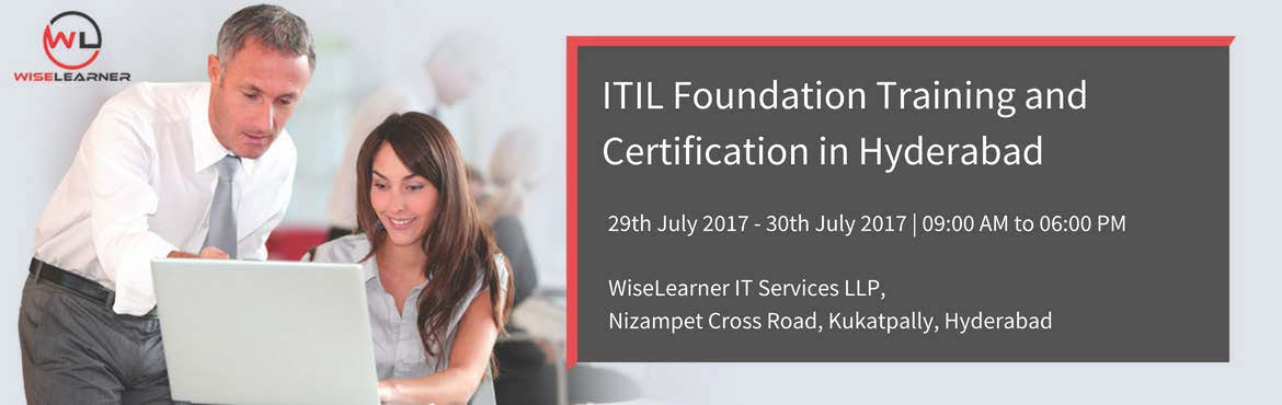 Book Online Tickets for ITIL Foundation Training In Hyderabad, Hyderabad. OVERVIEW The Information Technology Infrastructure Library (ITIL®) is a best practice IT Service Management framework developed by the Office of Government Commerce (OGC) within the UK government. It has been developed in collaboration with leadi