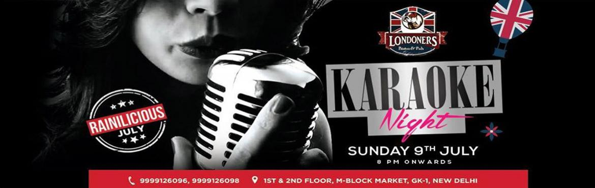 Karaoke Night on Sunday Night, 9th July