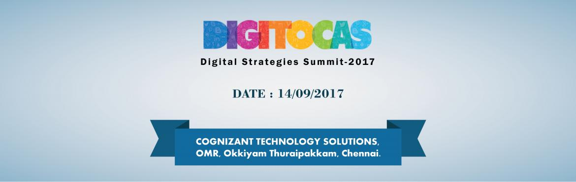 Book Online Tickets for DIGITOCAS - Digital Marketing Summit in , Chennai. DIGITOCAS is organizing a daylong event aimed at bringing together the best minds from the Digital Marketing and Analytics space to talk about Digital Advertising, issues in Optimization and Marketing. DIGITOCAS Chennai will feature a few techni
