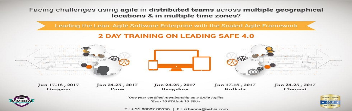 Book Online Tickets for Leading SAFe 4.0 Training |Gurgaon| 22-2, Gurugram. LEADING SAFe 4.0 This two-day course teaches the Lean-Agile principles and practices of the Scaled Agile Framework® (SAFe®). You'll learn how to execute and release value through Agile Release Trains, how to build an Agile Portfolio, an