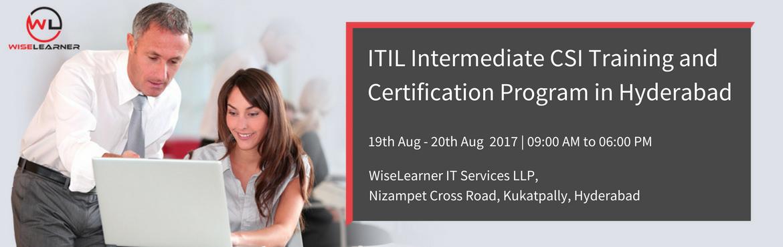 ITIL Intermediate CSI Training in Hyderabad