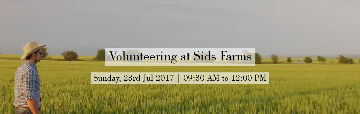 Book Online Tickets for Volunteering at Sids Farms , Hyderabad. Come down to our farm and spend some time with our animals, plant some trees, read a book and help us tend to our animals.  Our farm is far from city away from any pollution or distraction.  Below are the event details for plantation drive: Repo
