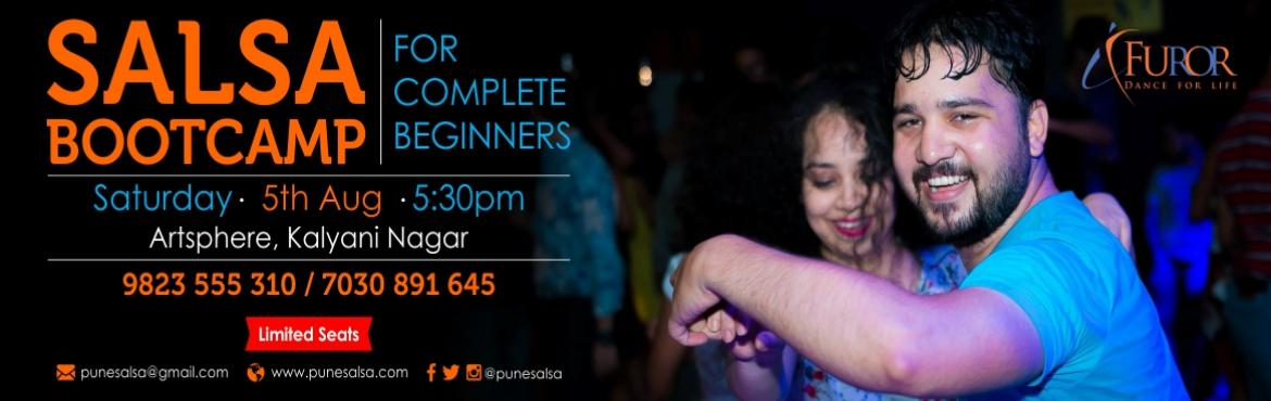 Book Online Tickets for SALSA Bootcamp for COMPLETE BEGINNERS_5t, Pune.  Registrations Open for our Salsa Bootcamp - For Complete Beginners Date: 5th August 2017 (Saturday)Time: 5:30pm to 7pmVenue: Artsphere Pune, 402, Fourth Floor, North Court Building, North Avenue Road Number 12, Near Jogger\'s Park, Above C