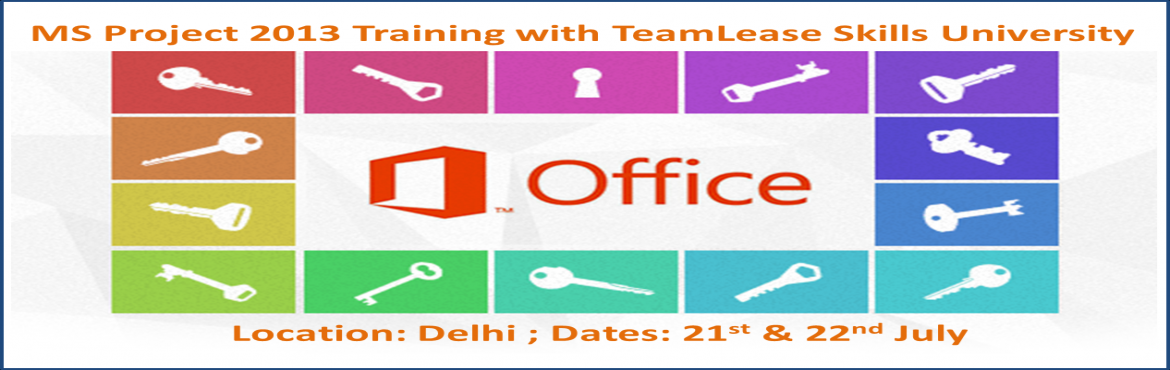 MS Project 2013 Training @ Delhi