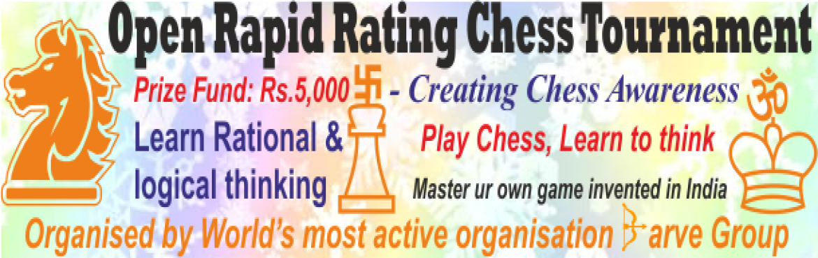 Book Online Tickets for Bhiwandi Open Rapid rating Chess Tournam, Kalyan.   Sun, July 23, 2017, sharp 3 pm-5 pm    Entry Fee: Rs.300    Spot entry: Rs.400    Shubh Classes, opp. Tel exchange, off. Dhamankar Chowk, Bhiwandi Elo Rating, Photo Certificates & 5 in