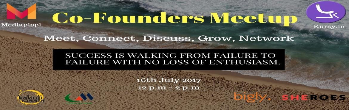 Book Online Tickets for Co-Founders Meetup, New Delhi.  Love talking business? A knack for innovation,the right mind to experiment and play with risks? Time to show off your business knowledge.  Wanna be an entreprenuer?Hey, be the co-founder to a somebody\'s venture! Already an entreprene