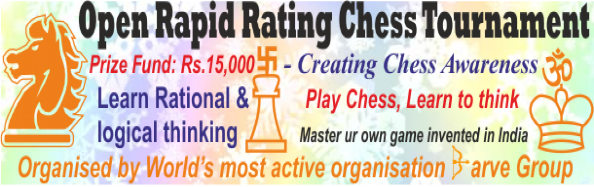 Book Online Tickets for Airoli Open Rapid Rating Chess Tournamen, Navi Mumba.    Sun, July 30, 2017, sharp 5 pm-7 pm        Little Wonder, opp. Gurudutt complex, Sector 8, Airoli1st Prize: Open: Rs.1500, Rs.1000 in Under 30 yrs & U-12th. Trophies in other groupsEn