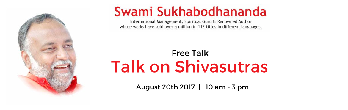 Book Online Tickets for Talk on Shivasutras, Pittsburgh. Test