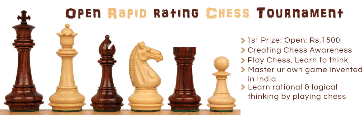 Book Online Tickets for Mumbai Open Rapid rating Chess Tournamen, Mumbai.           Sun, Aug 6, 2017, sharp 5 pm-6 pm  Entry Fee: Rs.700  Spot entry: Rs.800                  L/148, Dreams Mall, LBS Road, nr. B