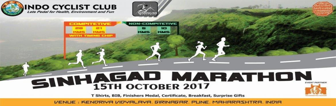 Book Online Tickets for ICC Sinhagad Marathon, Pune.  Indo Cyclist Club (ICC) is hosting First Hill Marathon in PUNE in association with MTDC Pune , ICC Sinhagad Marathon 2017- Pride of Pune. Sinhagad Marathon is Running Event is organized by Indo Cyclist Club (ICC) will create awareness