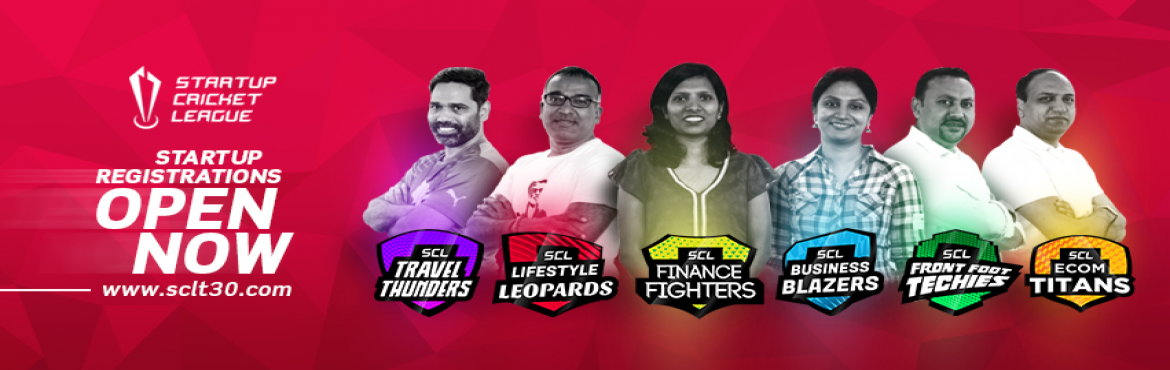Book Online Tickets for Startup Cricket League 2017, Hyderabad. Startup Cricket League or SCL is one of a kind, nationwide platform to unite entrepreneurs and all other stakeholders of Indian Startup Ecosystem through the medium of the most popular Sport in India, Cricket. www.sclt30.com
