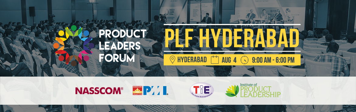 Book Online Tickets for PLF Hyderabad, Hyderabad. Product Leaders Forum (PLF) is a not for profit initiative. Our intent is to build an active forum of product leaders helping build stronger product mindsets and skillsets in India. As we accelerate the journey of creating & celebrating pro