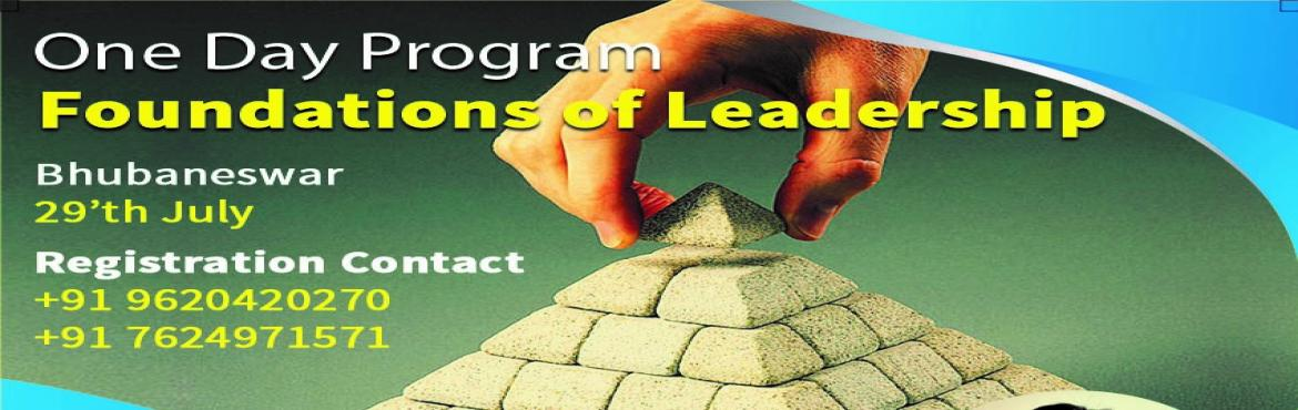 Book Online Tickets for Leadership training, Bhubaneswa.   One day Leadership training workshop on 29th july. The program is primarily targeted for team leaders, managers, Corporate employees, Teachers, Entrepreneurs, who want to to take on larger and more challenging roles in near future and wish to