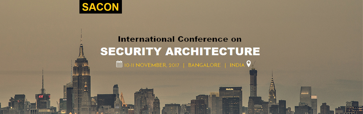 Book Online Tickets for SACON Security Architecture Conference, Bengaluru.  Join the largest security architecture conference in the region. | 10 - 11 November | Bangalore | India. Workshops on Security Architecture, Forensic, RASP, Deception Technology, Application Security Architecture, SecDevOps, Threat Modeling, Inciden