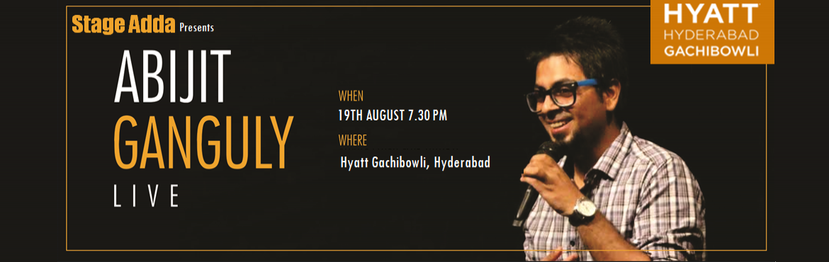 Book Online Tickets for Stage Adda Presents - Abijit Ganguly Liv, Hyderabad. Abijit Ganguly is funny. He claims he has never been on Tinder. He is also very funny. He is certain one day he will have six pack abs and be better looking than the handsomest Bengali Bappi Lahiri.  Did we mention he is funny?  Recently ma