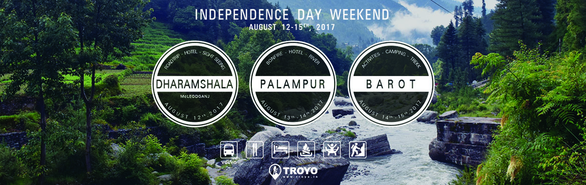 Book Online Tickets for Iconic Independence Day Weekend Trip , New Delhi.  Troyo\'s Iconic Independence Day long weekend trip  Why choose a single location when you can travel to 3 locations on the most awaited Independence Day Weekend of the year .For more details and itinerary visit www.troyo.in .   Troyo