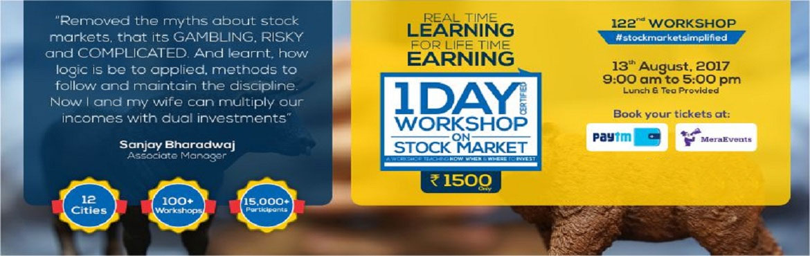 Book Online Tickets for One Day Workshop on Stock Market , Bengaluru. \