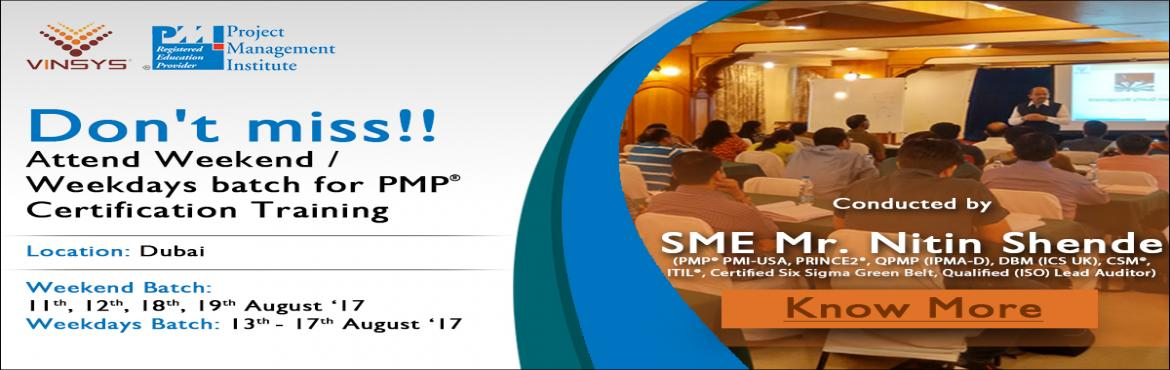 PMP Training Certification and Course in Dubai | Vinsys