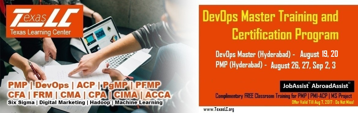 Book Online Tickets for DevOps Master Training and Certification, Hyderabad. Why DevOps Master©Certification?  Higher Pay: Average salary ofDevOps Engineer - $110k(Indeed.com Salary Data).DevOps certification can significantly increase your pay and open up new opportunities. Internatio