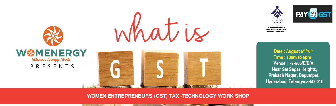 Book Online Tickets for WOMEN -TAX-TECHNOLOGY, Hyderabad. We all know, GST is the most hot topic in the market. As because all India is know turning towards GST from 1st July, 2017 as government of India will be removing all different taxes.  So what you think, which sectors are boon and which sectors