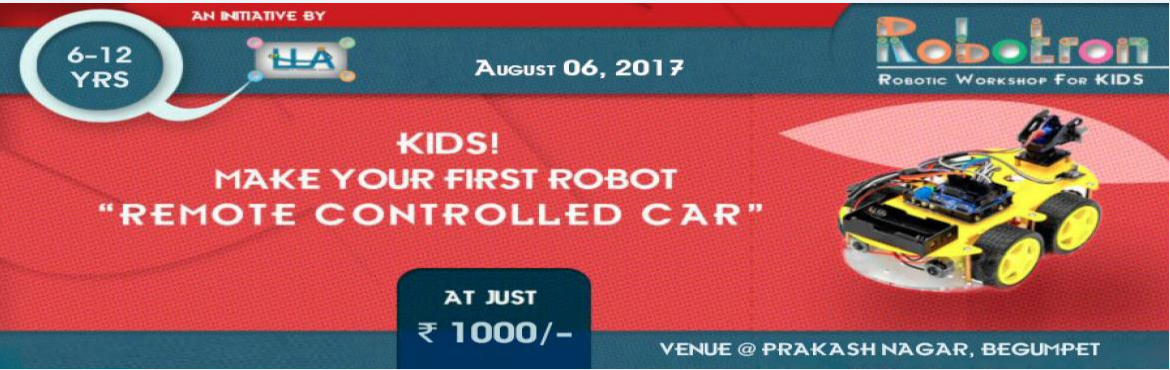 Book Online Tickets for ROBOTICS - MAKE YOUR OWN ROBOTIC CAR, Hyderabad.  Gear up for a one day workshop on Robotics !Learning and Leadership academy is organizing this 1 - day workshop which is a guided approach for kids to understand and gain Basic level knowledge of Robotics, its mechanics and Electronics.