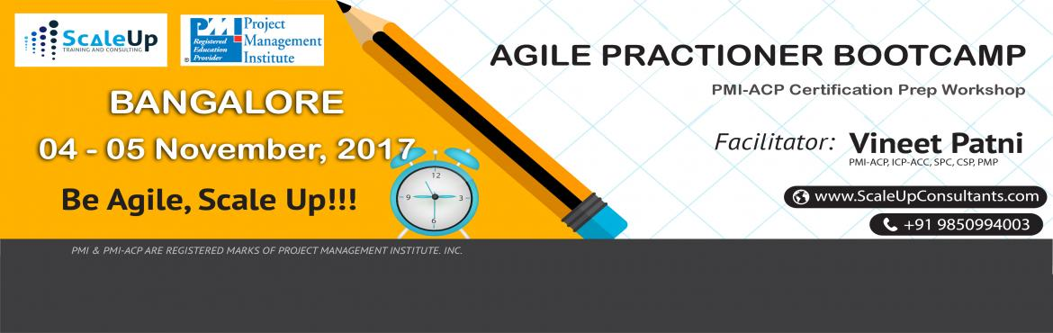 Book Online Tickets for PMI-ACP Certification Prep Workshop Bang, Bengaluru. About PMI-ACP Agile Training:  PMI-ACP® certification is a flagship Agile certification from the Project Management Institute (PMI). The PMI-ACP® recognizes knowledge of agile principles, practices andtoolsand techniques across ag
