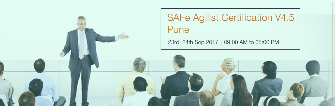 Book Online Tickets for SAFe Agilist Certification V4.5 Pune Sep, Pune.  The SAFe® Agilist certification is especially designed for agile leaders, project, program and portfolio managers who work in a scaled agile set-up. The SAFe Agilist certification program is for executives, managers and Agile change agents
