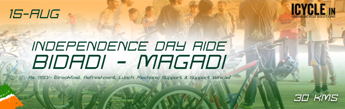 "Book Online Tickets for INDEPENDENCE DAY RIDE TO BIDADI-MAGADI 1, Bengaluru.   ""Open roads lead to open hearts. We Will hold the Protest.It will be a Peacefull Rally to Bidadi-Magadi this Independence day..""   Patriotic ICYCLE Ride 2017 …(INDEPENDENCE DAY RIDE TO BIDADI-MAGADI) Passionate Riders,C"