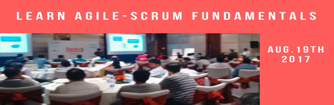 Book Online Tickets for One Day Workshop on Agile and Scrum Fund, Kolkata. Scrum is synonym to agile and exceed in popularity to any other agile framework in practice. The fixed length iteration, also known as Sprint and the stress on self organizing teams makes scrum the most attractive Agile Framework for Indian companies
