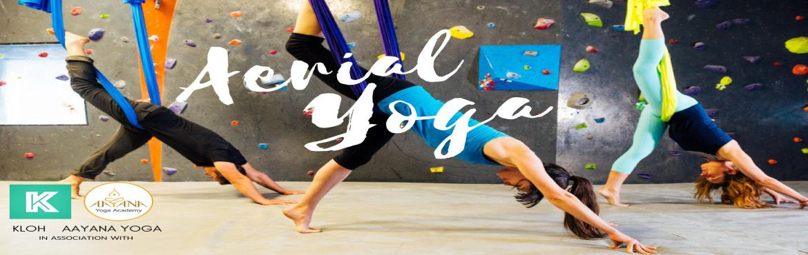 Book Online Tickets for Aerial Yoga Session, Bengaluru. Wanna \'hang out\' and go against the gravity this weekend?  Get suspended in the air for a one-of- a-kinda work-out. Improve your flexibility, concentration and muscle coordination with your feet off the floor. Aerial yoga is like