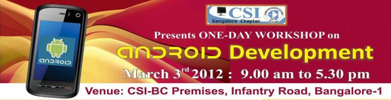 Android Development - Workshop - 3rd March 2012