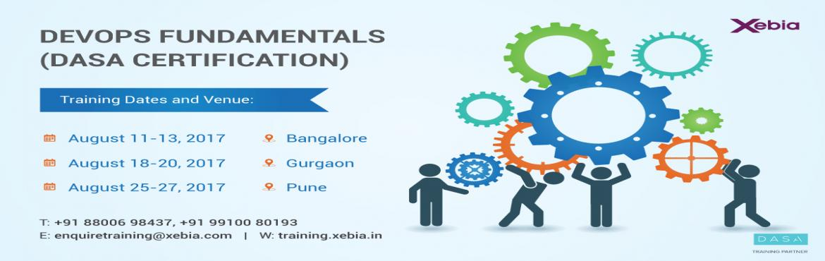 DevOps Fundamentals (DASA Certification) Pune 25-27th Aug 17