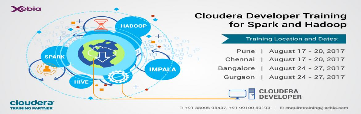 Cloudera Developer Training for Apache Spark and Hadoop | 24-27 Aug 2017 | Bangalore