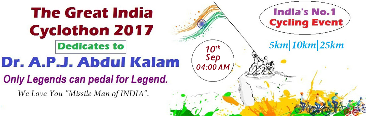 Book Online Tickets for The Great India Cyclothon 2017, Chennai. Lets celebrate the day that gave us the freedom of thought, actions, faith and speech. The Great India symbolizes the resurgent India and the aspiration of all Indians and expectations from the rest of the World. Development is about transforming the