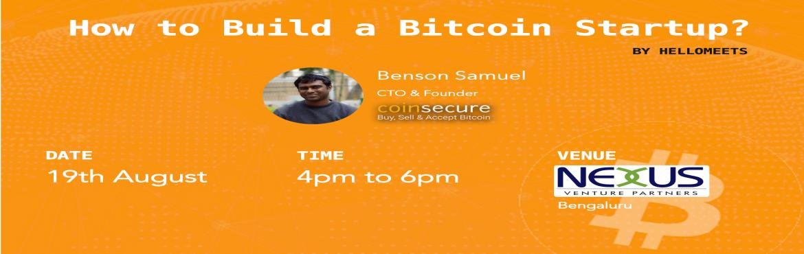 How to Build a Bitcoin Startup?