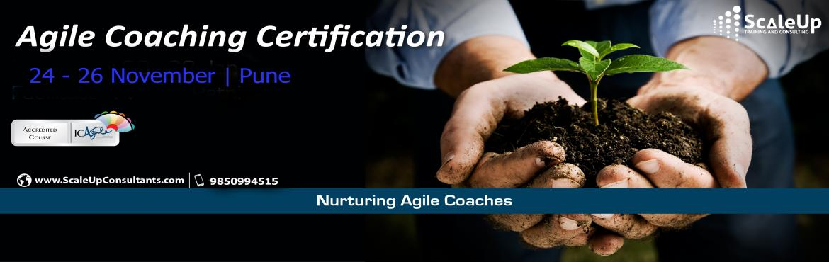 Book Online Tickets for Agile Coach Certification, Pune - Novemb, Pune.  The Agile Coaching Workshop is a 3-days face-to-face training program with the primary objective to make learners efficient in coaching agile teams. It helps the participants understand and develop the essential professional coaching skills, ap