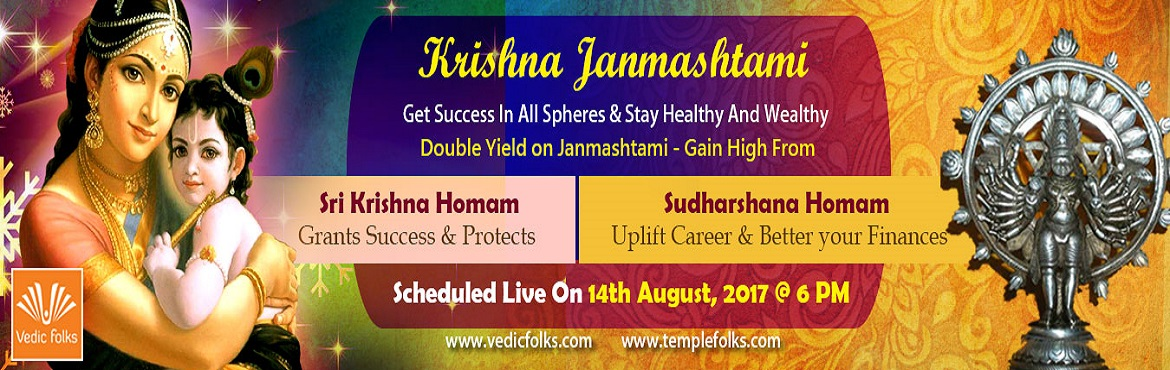 Book Online Tickets for Krishna Jayanthi 2017, Chennai. Krishna Jayanthi 2017 Get Success in all spheres & Stay Healthy And Wealthy Scheduled Live on August 14, 2017 6 PM IST Lord Krishna A Prankster Loved By All Lord Krishna is the eighth and most powerful incarnation of Lord Vishnu and was born to a