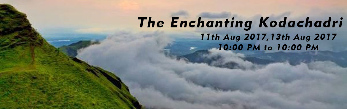 Book Online Tickets for The Enchanting Kodachadri, Bengaluru. After the recent trek to Kudremukha, this monsoon season, the amazing landscapes of Kodachadri are waiting to be explored by you! Come, quench your wanderlust by joining Muddie Trails on this exciting journey to one of the mo