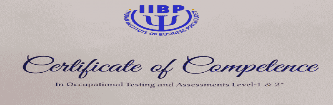 Book Online Tickets for Psychometric Certification Level-1 and L, New Delhi. Course Description       The course is as per the model curriculum prescribed by NAOP (National Academy of Psychology), EFPA (European Federation of Psychologists Association) and IIBP (Indian Institute of Business Psychology). Currently, there