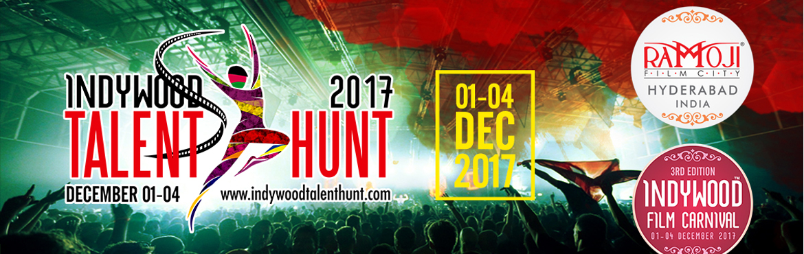 Book Online Tickets for Indywood Talent Hunt, Hyderabad. A national level 4-day arts and cultural event, with competitions in 22 categories such as short film making, dance, music, performance arts and drama, among others. For more information visit http://indywoodtalenthunt.com/  Email Id : co