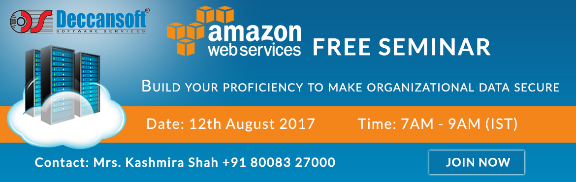 Book Online Tickets for Amazon Web Services Free Seminar.., Hyderabad. AWS (Amazon Web Services) Introduction Free Seminar Did you know you can use Artificial Intelligence and Machine Learning to enhance your operational efficiency, create new business insight, and improve your customer experience? Find out how to build